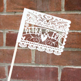 Laser-Cut Papercutting Artwork - CUSTOM Papel Picado Paper Mexican Wedding Flag