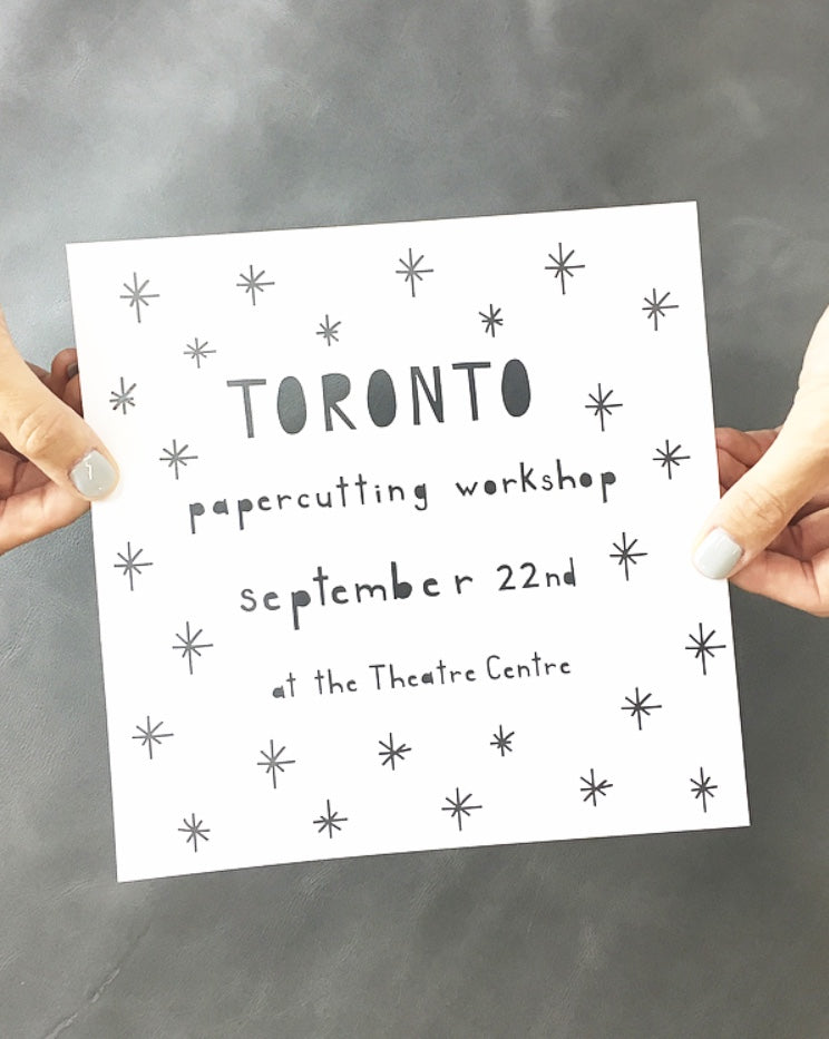Papercutting Workshop - September 22 - Toronto