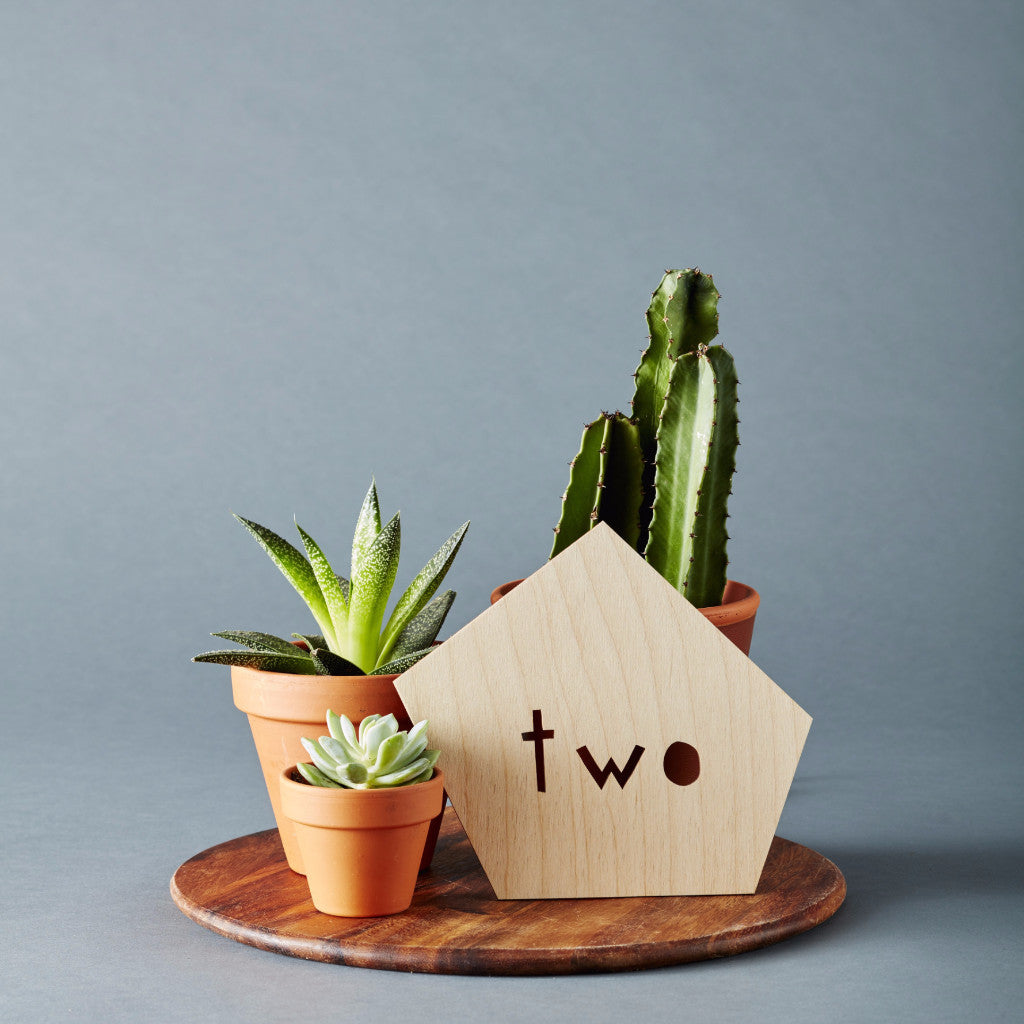 Geometric Wedding Table Numbers - Alphabetical
