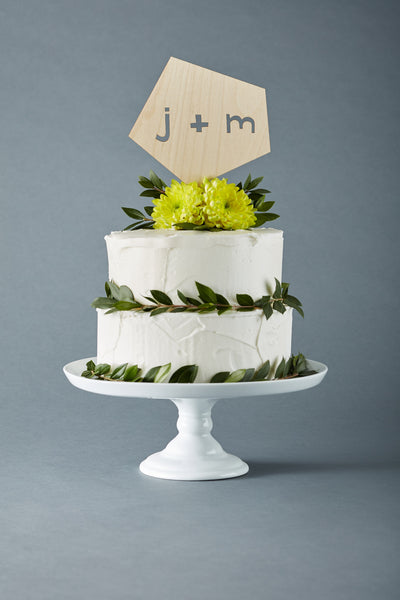 Custom Geometric Wedding Cake Topper
