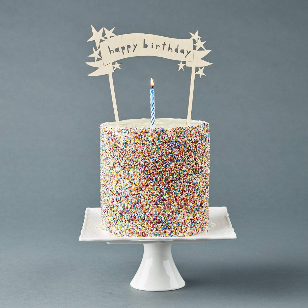 Happy Birthday Stars Cake Topper