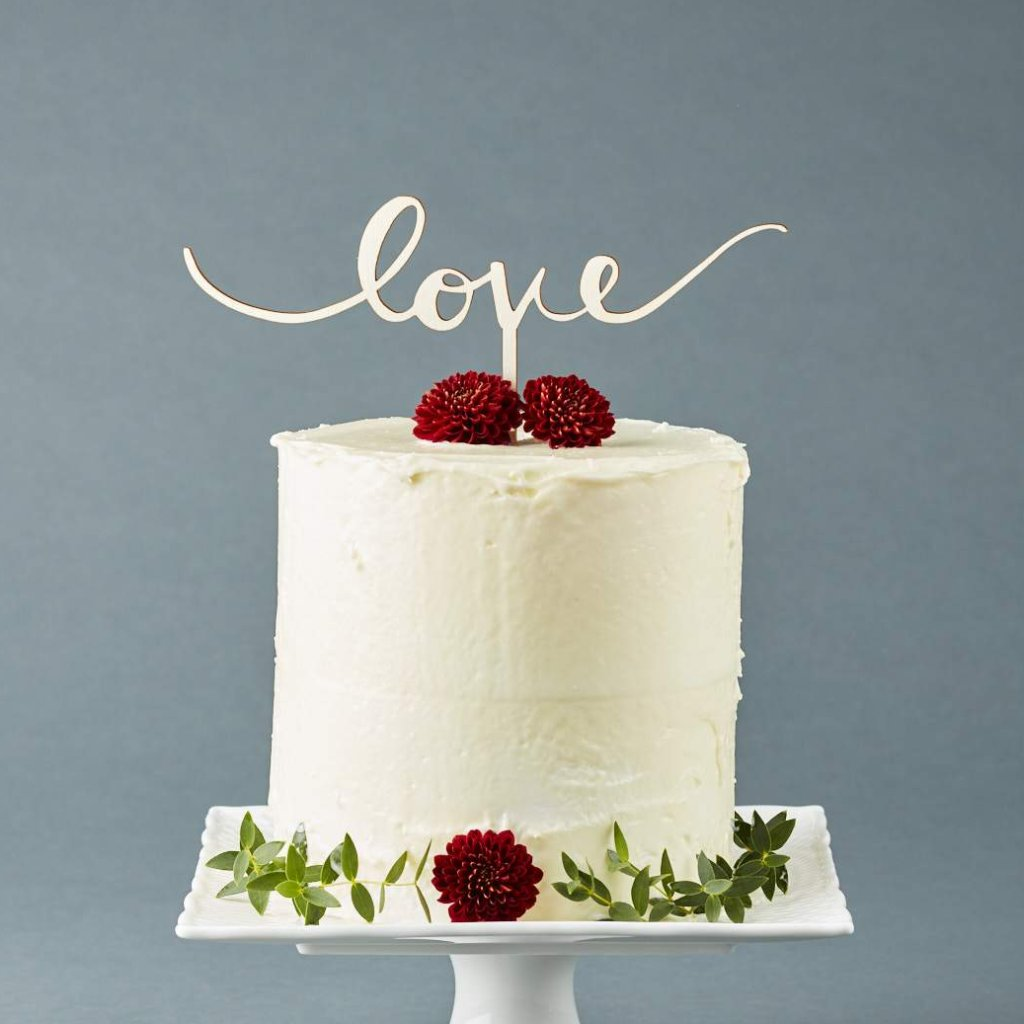 "Simple Handwritten ""Love"" Cake Topper"