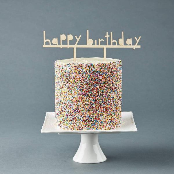 Happy Birthday Simple Cake Topper