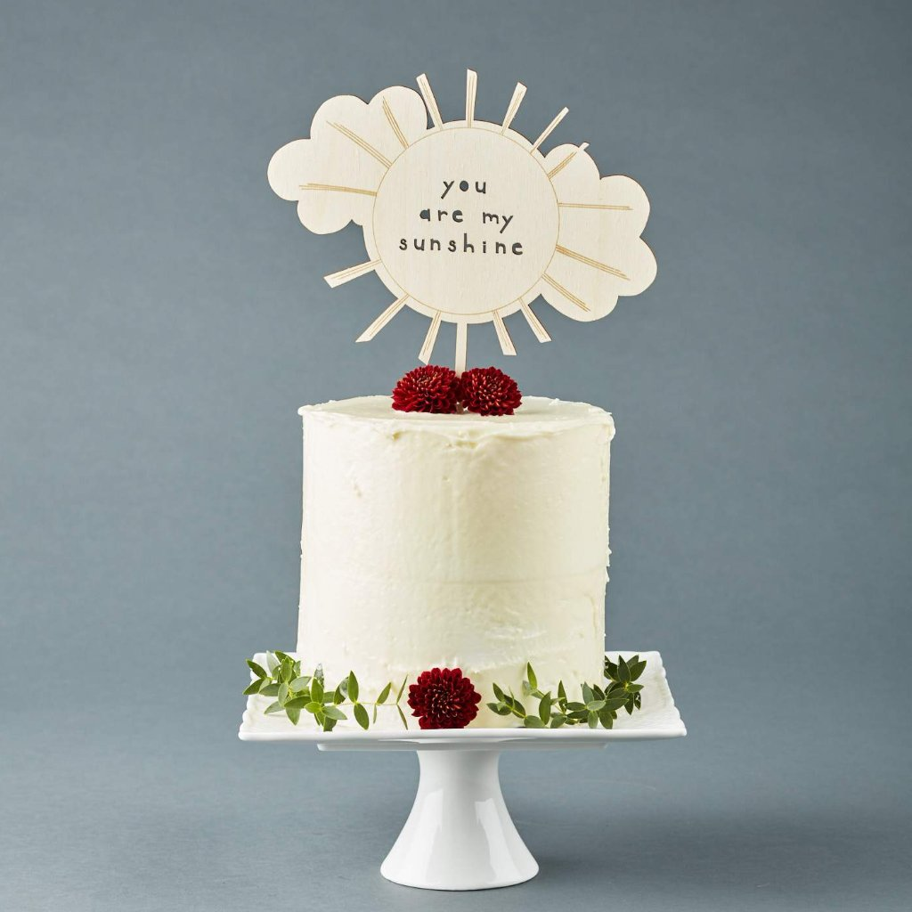 You are my Sunshine Baby Shower Cute Cake Topper