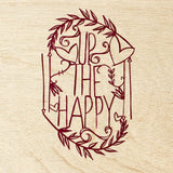 Hand-Cut Papercutting Artwork - Up the Happy