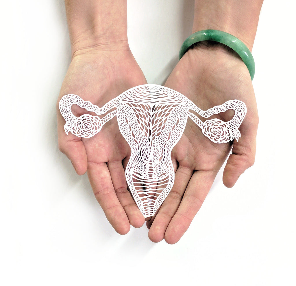 Anatomical Uterus/Ovaries Papercutting Artwork