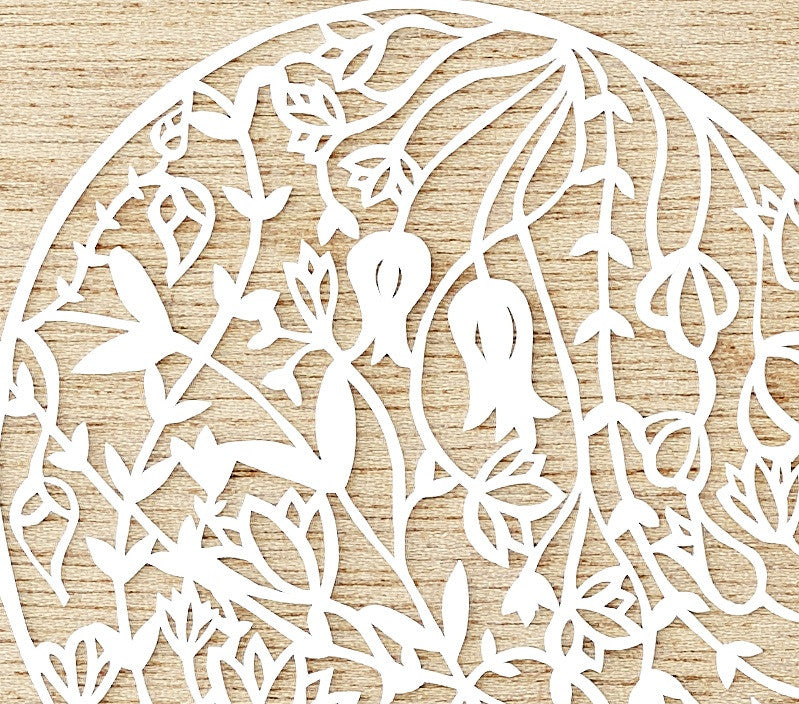 Floral Heart Papercutting