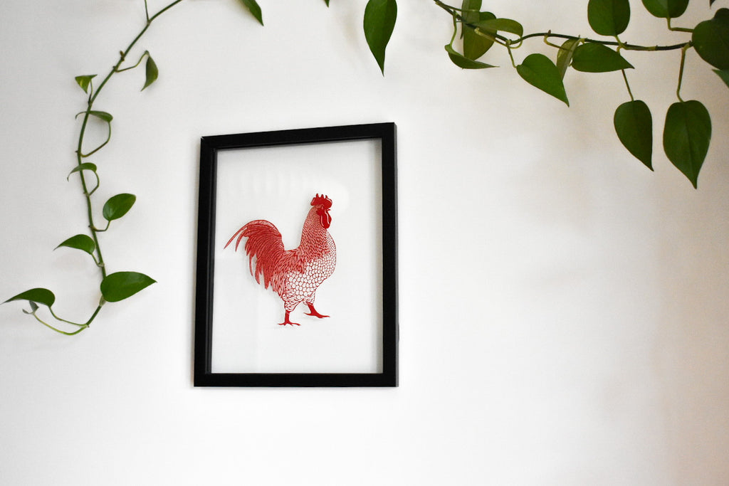 Rooster Papercutting Artwork