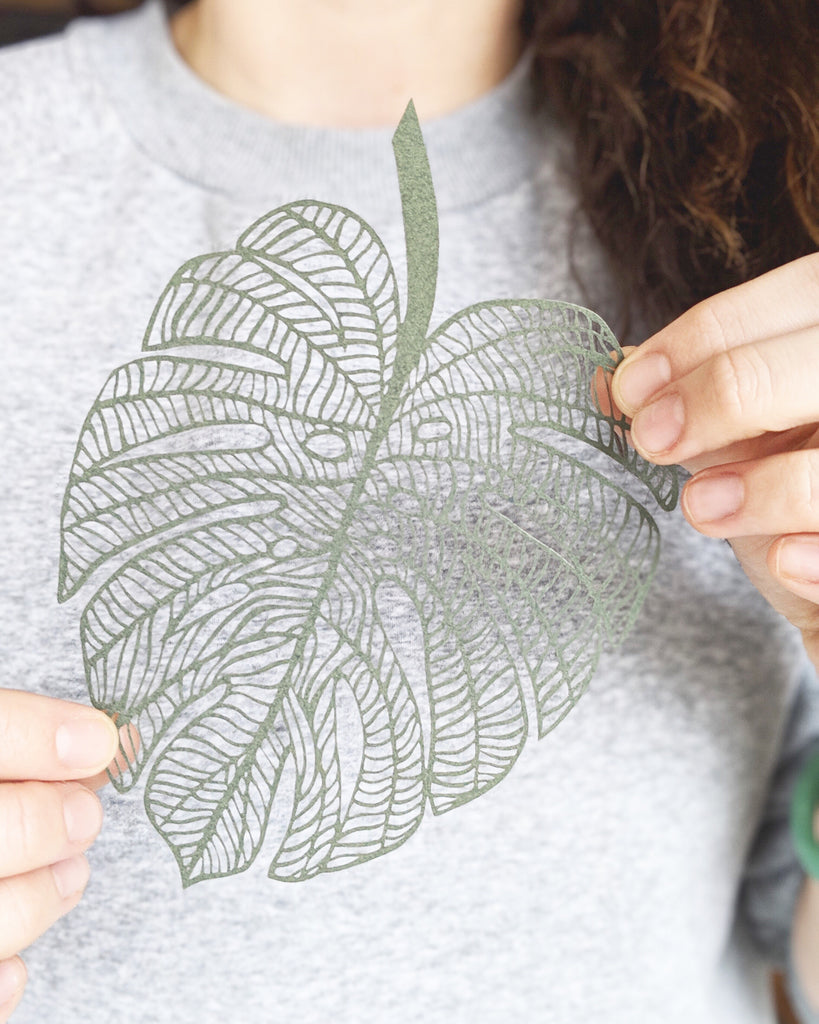 Laser-Cut Papercutting Artwork - Monstera leaf