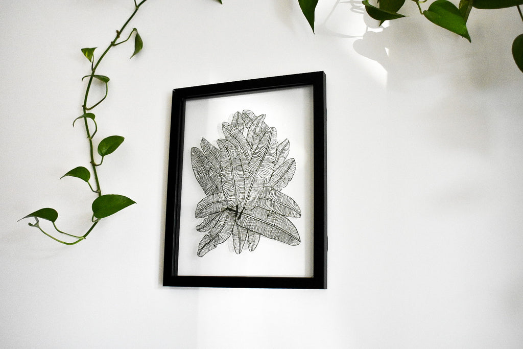 Banana Leaves Papercutting Artwork