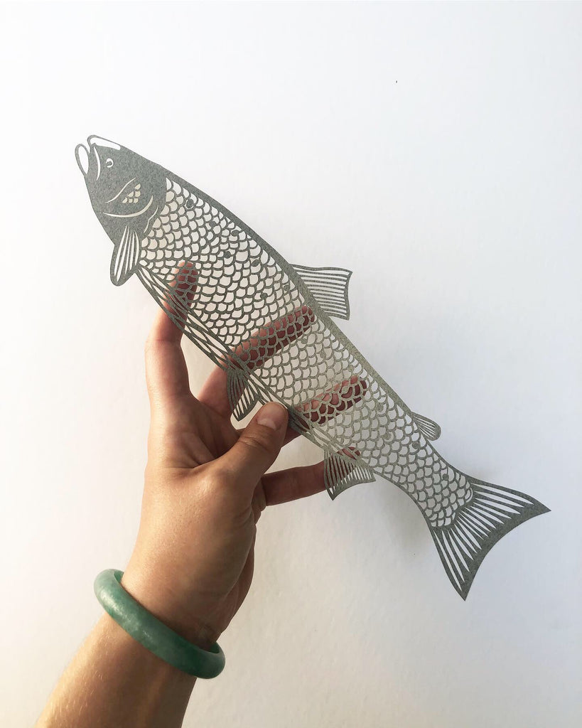 Atlantic Salmon Papercutting