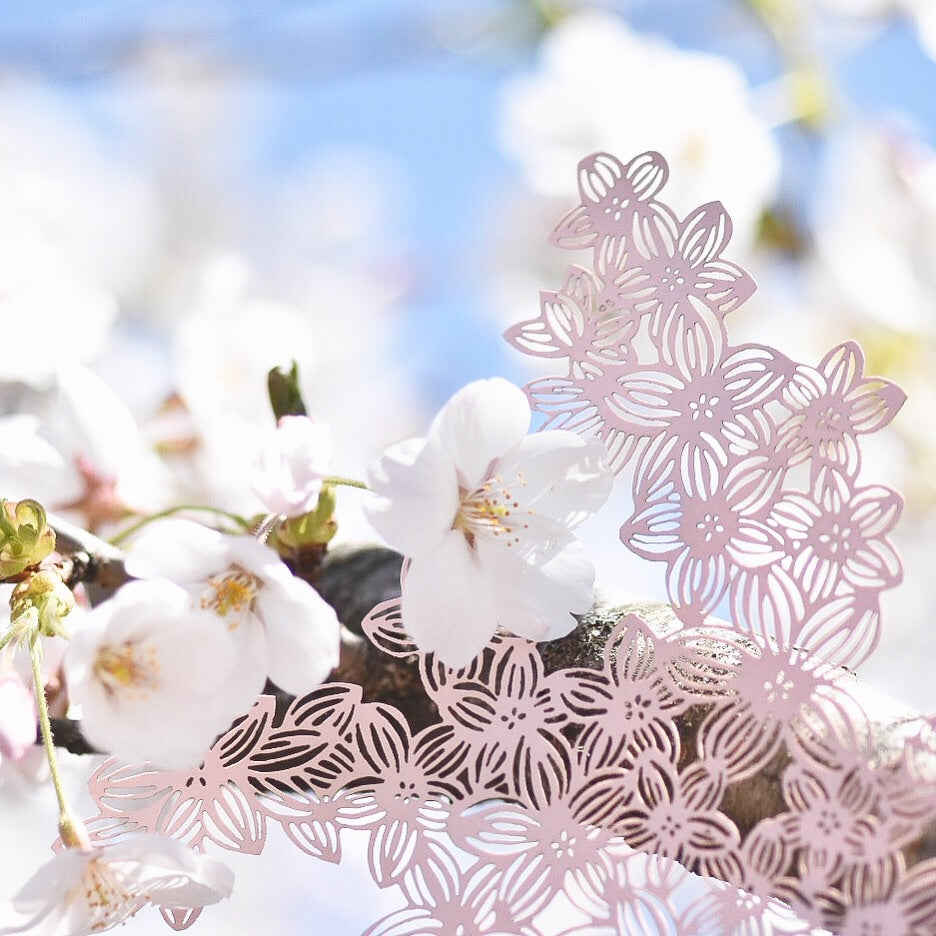 Laser-Cut Papercutting Artwork - Pink Cherry Blossoms