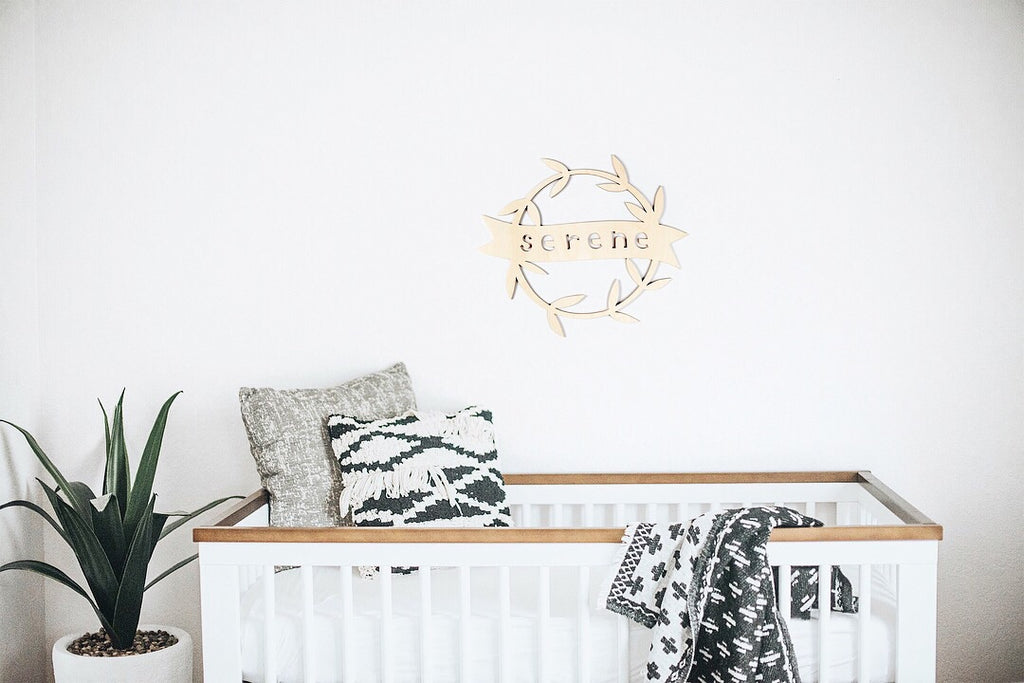 Custom wooden nursery lasercut name wall hanging