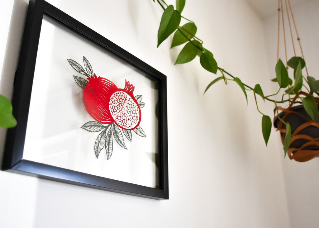 Pomegranate Papercutting