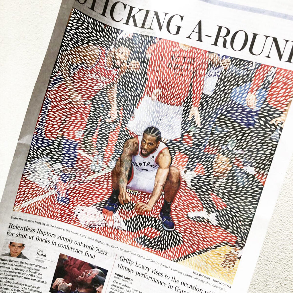 THE SHOT - Kawhi Leonard Toronto Star handcut papercutting