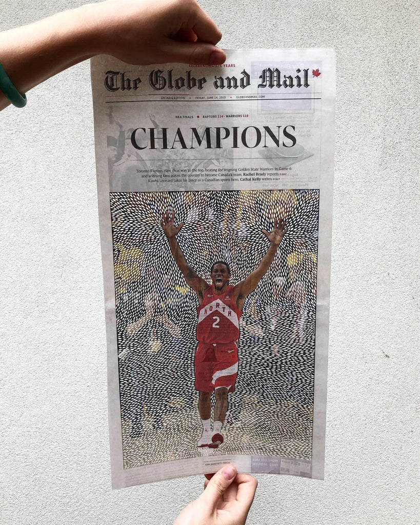 Original Papercutting art by Ali Harrison of Light + Paper, Handcut Kawhi Leonard Papercutting, Made in Toronto