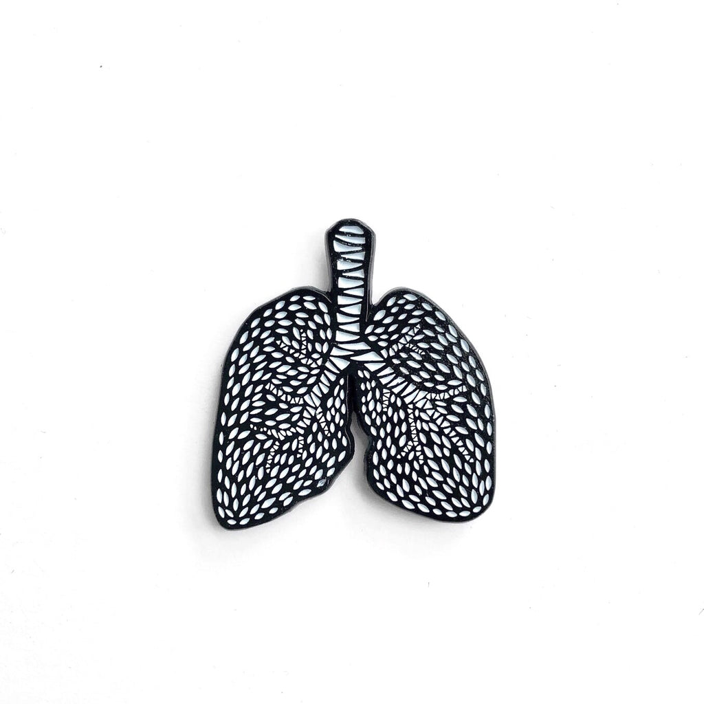 Lungs Enamel Pin