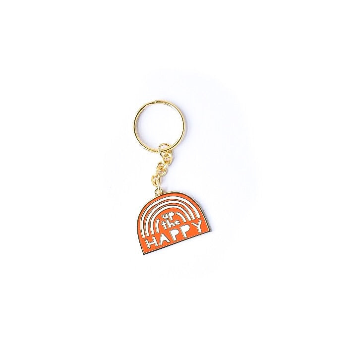 Up the Happy Rainbow Enamel Keychain
