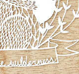 Hand-Cut Papercutting Artwork - Squirrel with Acorn