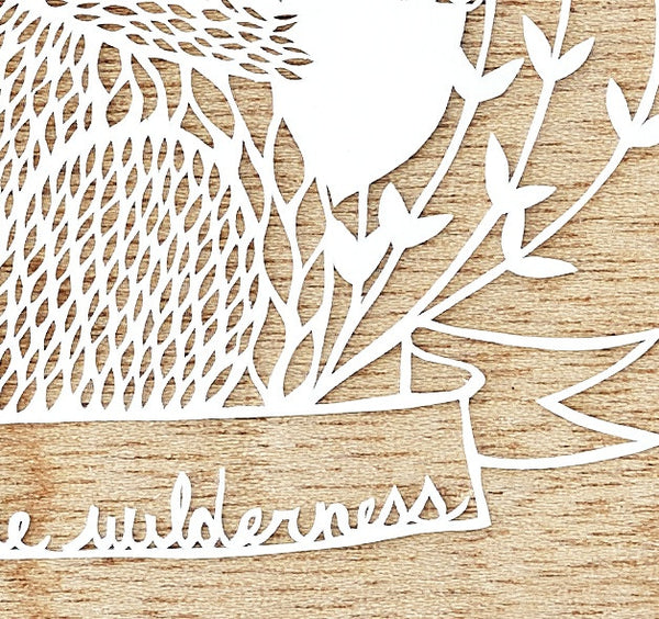Laser-Cut Papercutting Artwork - Woodland Squirrel