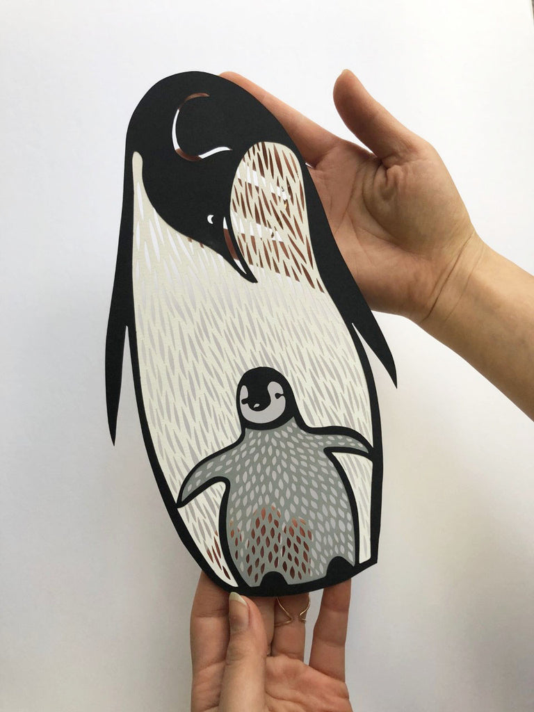 Penguin Papercutting Artwork
