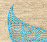 Laser-Cut Papercutting Artwork - Blue Mermaid/Whale Tail Fluke