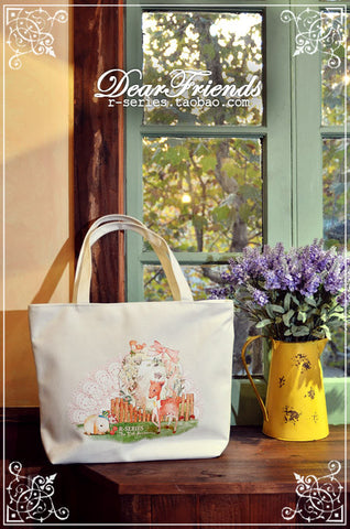 Dear Friends, Lolita print Tote bag