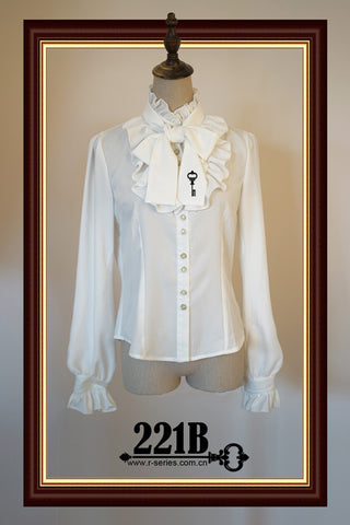 Serenade of 221B, key embroidery Blouse