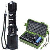 800Lm Zoomable CREE T6 LED Flashlight Torch Free Battery (18650) & 2 Chargers
