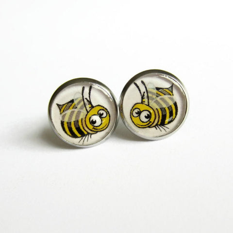 Bumble Bee Earrings - Because of Annie