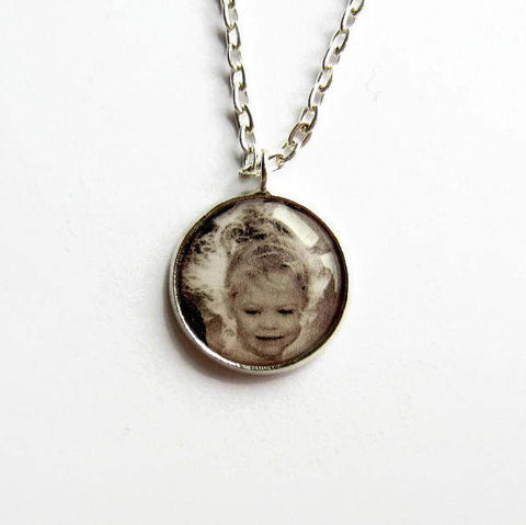 Custom Photo Necklace - Because of Annie