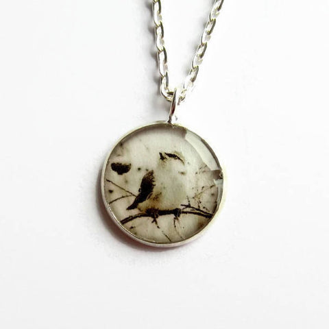 Sepia Bird Pendant Necklace - Because of Annie