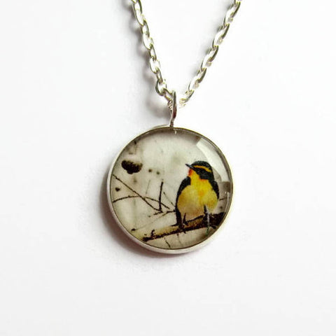 Yellow Bird Pendant Necklace - Because of Annie