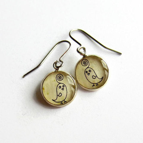 Doodle Bird Earrings - Because of Annie