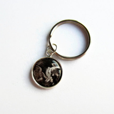 Custom Ultrasound Scan Photo / Sonogram Keyring - Because of Annie
