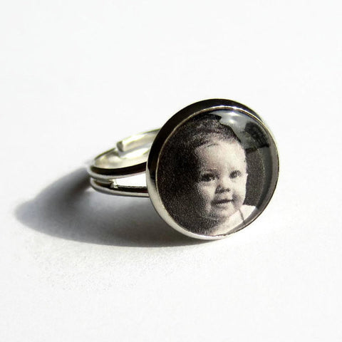 Custom Photo Ring - Because of Annie