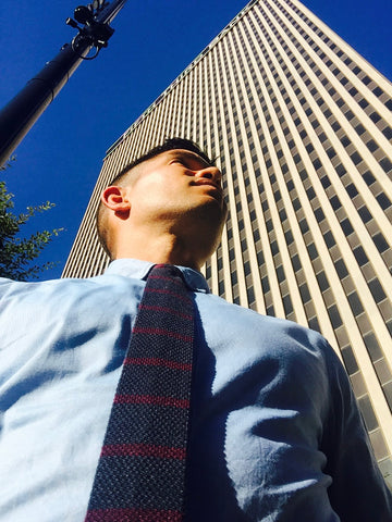 Sloane - Tips to Dress for the Job You Want - Shirt and Tie look in Downtown Cincinnati