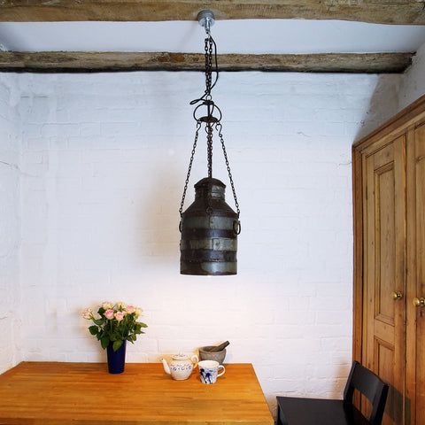 Milk Can Hanging Light - Smith & Stocking  - 1