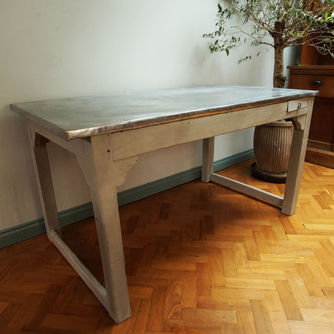 Zinc Industrial Dining Table - Smith & Stocking  - 1