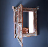 Old Window Shutter Mirror - Smith & Stocking  - 1