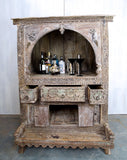 Carved Dowry Cabinet - Smith & Stocking  - 7
