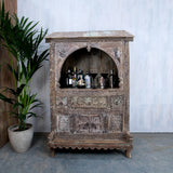 Carved Dowry Cabinet - Smith & Stocking  - 1