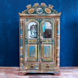Gorgeous Painted Cabinet - Smith & Stocking  - 1