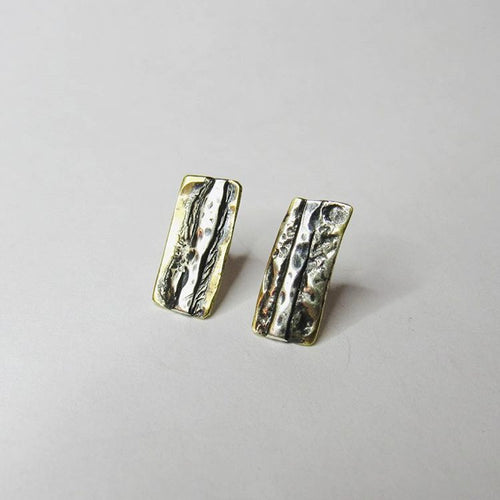 Bronze Rectangles Collection - Stud Earrings