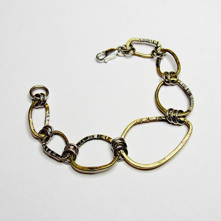 Brass Circles Collection - Full Bracelet No. 1