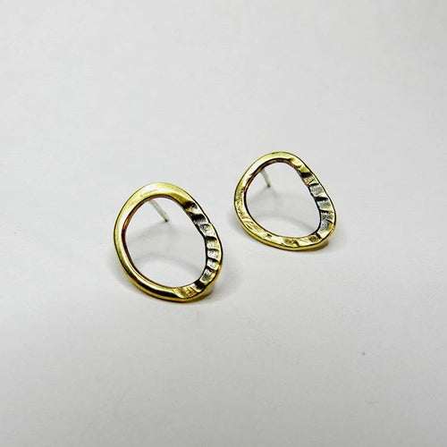 Brass Circles Collection - Stud Earrings