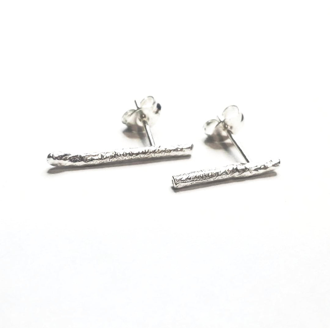 Reticulated Rod Collection - Thin Stud Earrings