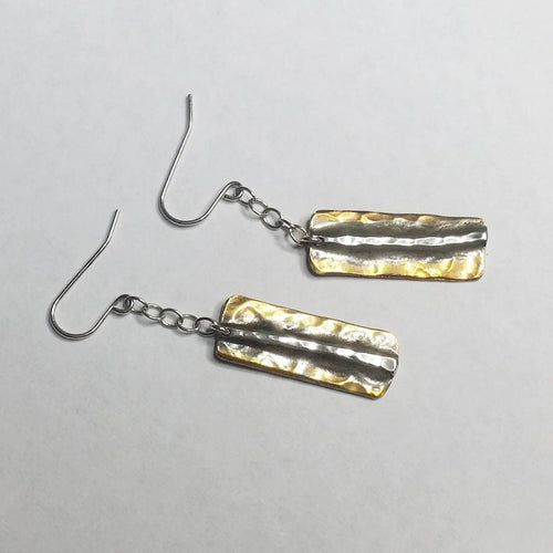 Bronze Rectangles Collection - Hook Earrings