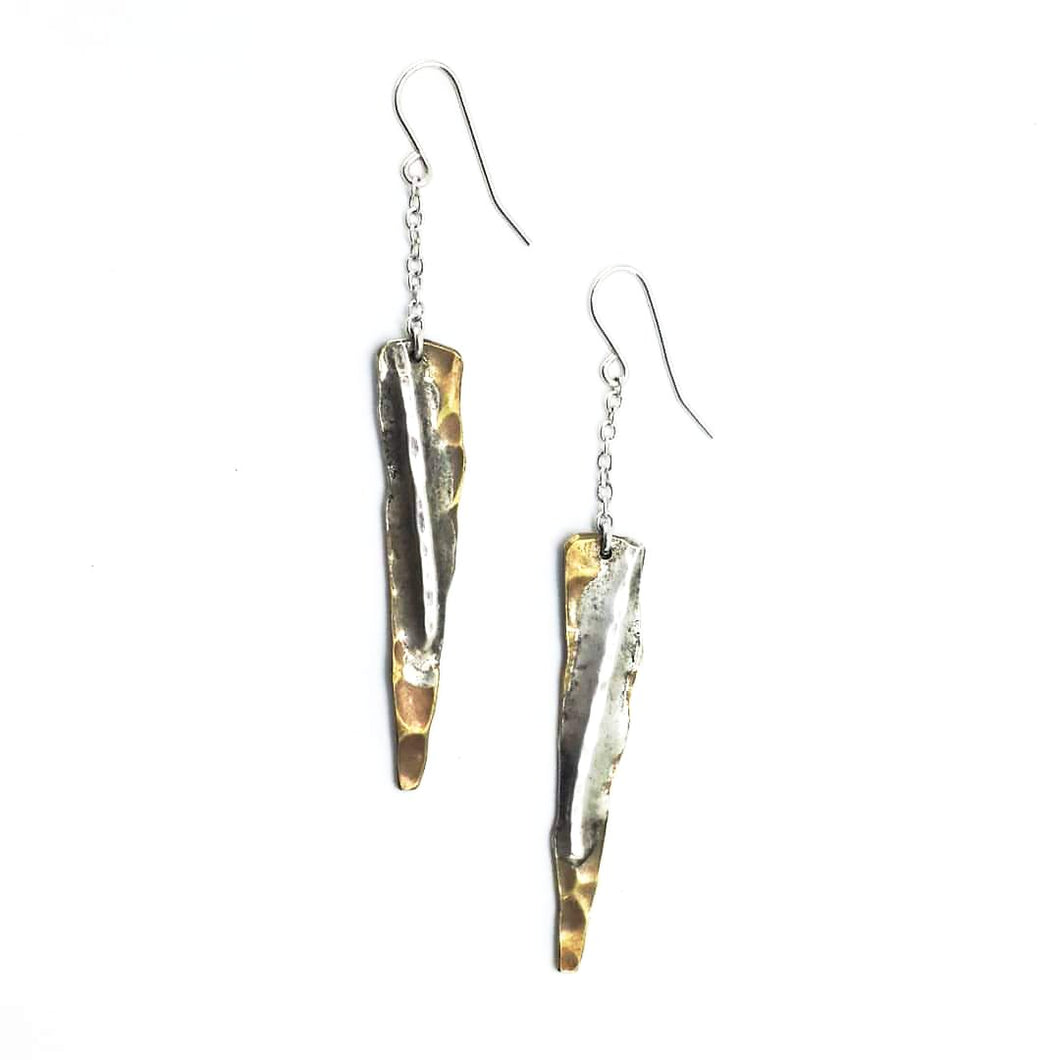 Bronze Triangles Collection - Hook Earrings