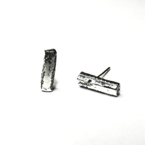 Reticulated Rod Collection - Thick Stud Earrings
